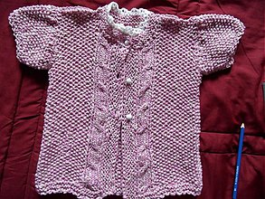 Detské oblečenie - svetrík s krátkym rukávom ružový - 3481939
