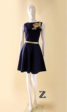 Šaty - Blue gold.... - 3485116