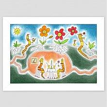 Obrazy - Život dážďoviek maľovaný obraz detský - 3486198