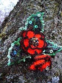 Brošne - Brošňa-  Červené ruže - 3492103