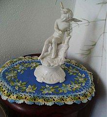 Úžitkový textil - Vyšívané prestieranie - Modrá Ema - 3492159