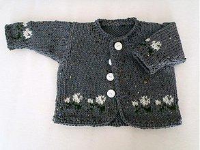 Detské oblečenie - Sivý svetríček pre dievčatko - 3492663