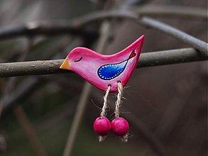 Odznaky/Brošne - Vtáčik ružový. - 3495159