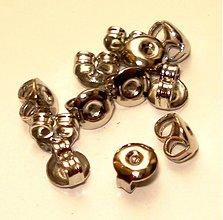 Komponenty - Protidiel kovový motýlik - platina (10 ks) - 3496313