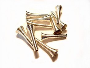 Komponenty - Kaplík kornoutek 28 mm, 2 ks, stříbrný - 3497007