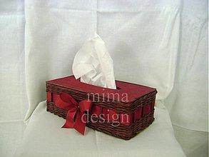 Krabičky - Krabička na kapesníky-hnedá - 3497165