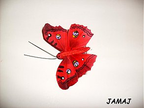 Galantéria - červený motýľ - 3499419