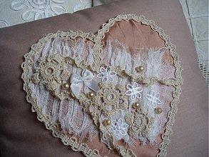 Úžitkový textil - Vankúšik - Tuhá romantika - 3500205