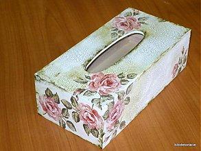 Krabičky - Romantic ruže zásobník na vreckovky - 350068