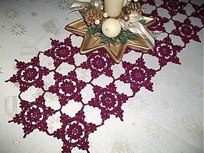 Úžitkový textil - Háčkovaná štôla na stôl - 3502099