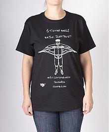 Oblečenie - Čierne tričko s bielou eko potlačou - 3508603