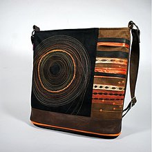Kabelky - Pestrokruhy - oranž a hnedá - 3510256