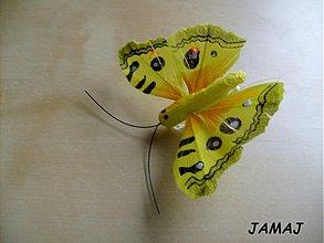 Galantéria - žltý motýľ - 3510990