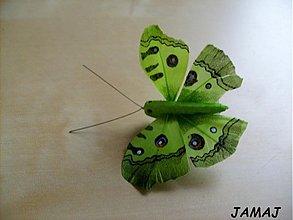 Galantéria - zelený motýľ - 3511252