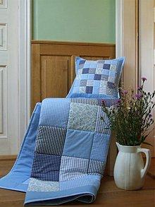 Úžitkový textil - patchwork deka 140x200 alebo 220x220 a vankúš za super cenu - 3511986