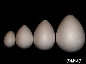 Polotovary - polystyrenové vajíčko 10 cm - 3514039