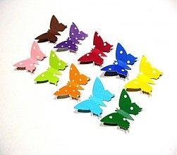 Papier - výsek motýľ/ 10ks - 3515823