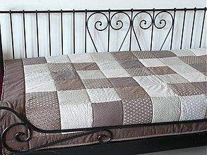 Úžitkový textil - patchwork deka 140x200 alebo 220x220 a vankúš za super cenu - 3524434