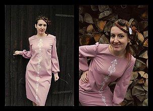 Šaty - Štetcom vyšívané - 3525638
