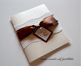 Papiernictvo - SVADOBNÉ oznámenie SWEET CHOCO - 3525680