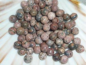Minerály - Jaspis leopard 8mm - 3526638