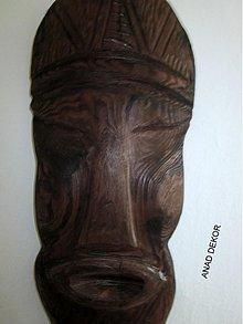 Dekorácie - drevená maska X-zlava - 3528348