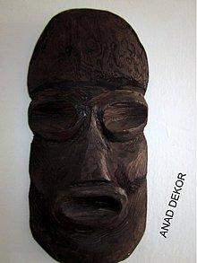 Dekorácie - drevená maska XX-zlava - 3528495