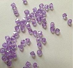 Korálky - Bicone - Crystal Violet /4mm/ 10ks - 3529766