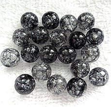 Korálky - KRAKL plast 10mm-čierna-10ks - 3530047