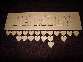 Polotovary - Rodinný kalendár - FAMILY - 3530064