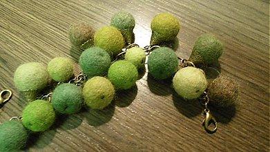Náramky - Plstený náramok zelený_S - 3532434