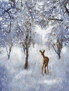 Obrazy - Srnka a anjel - 3532537