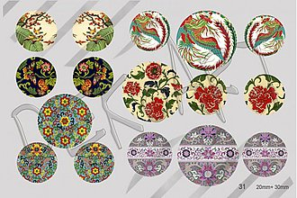 Materiál ručne robený - Motívy na šperky č.31- akcia 4+1 zdarma na všetky motívy - 3532577