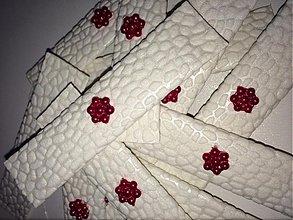 Darčeky pre svadobčanov - Svadobná žuvačka červený kvietok - 3532962