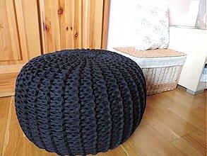 Úžitkový textil - Puf ČERNOŠKO - 3537678