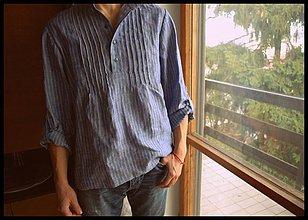 Oblečenie - pánska ľanovka pásik - 3538331