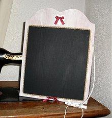 Dekorácie - tabuľka na odkazy s bodkovanou mašličkou - 3539271