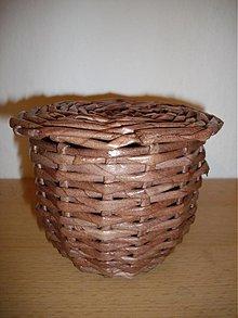Košíky - košíček s vypletaným vrchnákom - 3539502