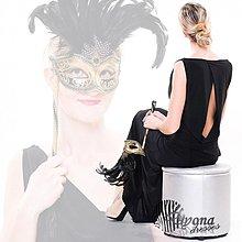 Šaty - Spoločenské elastické šaty holý chrbát rôzne farby - 3546470