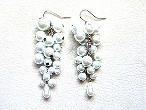 Náušnice - biele perly - 3546721