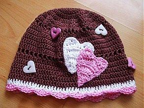 Detské čiapky - ČOko srdiečková - 354704