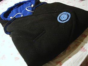 Textil - zavinovačka -flees modrá - 3548516