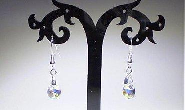Náušnice - Swarovski Pear s háčikom z Ag925 - 3548900
