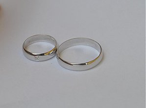 Prstene - Si moja jediná ...strieborné - 3552656