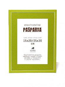 Rámiky - Pasparta Happy Green na obrázok 20x30 cm - 3553834