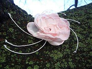 Ozdoby do vlasov - Ozdoba do vlasov ružový vánok - 3554127