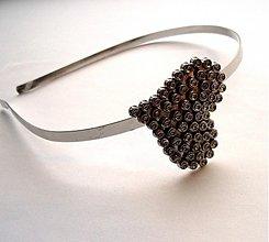 Ozdoby do vlasov - Silver heart - 3554853