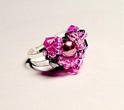 Prstene - Pink Heart - 3556035