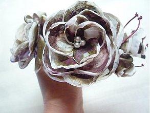 Ozdoby do vlasov - Čelenka ruže - višne v čokoláde - 3556083