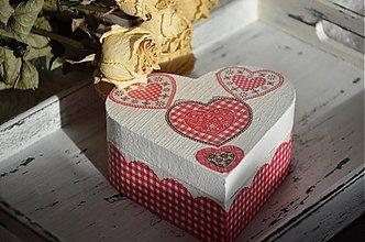 Krabičky - Valentínska šperkovnička - 3558766
